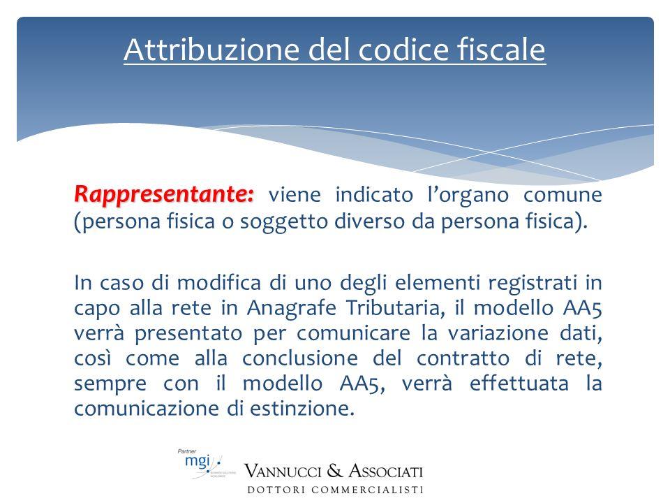 Attribuzione del codice fiscale