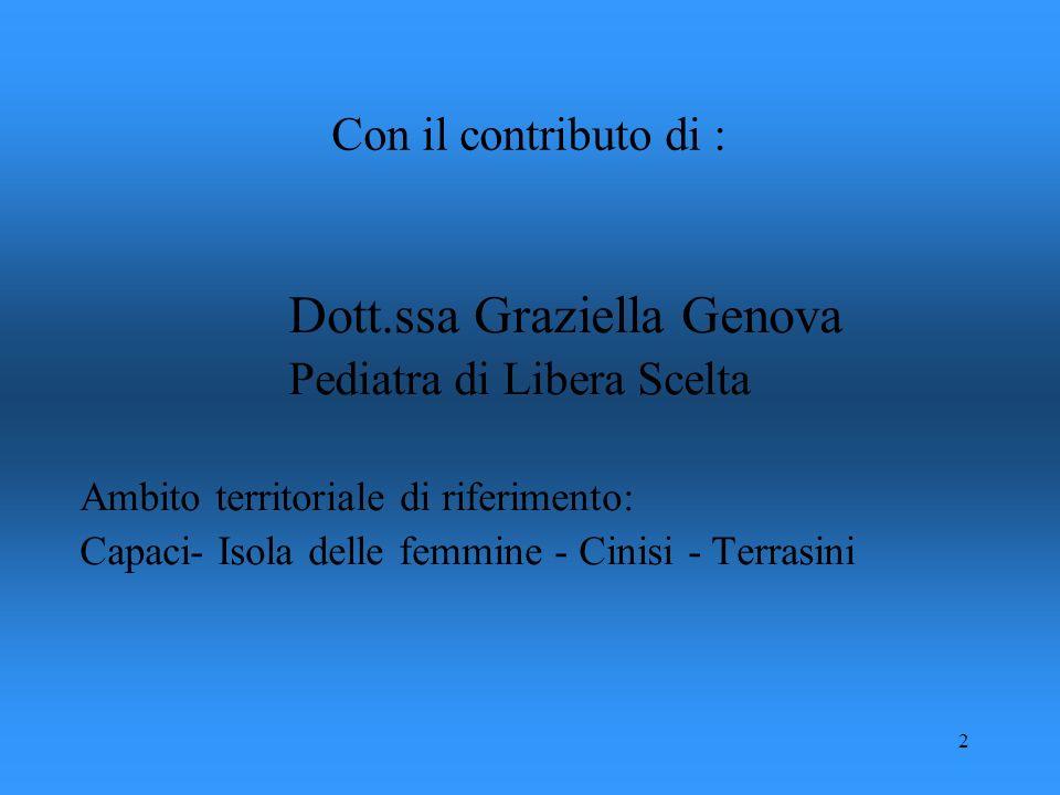Dott.ssa Graziella Genova Pediatra di Libera Scelta