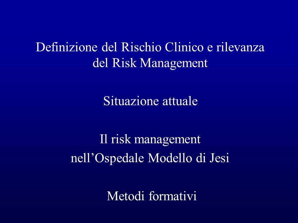 Definizione del Rischio Clinico e rilevanza del Risk Management