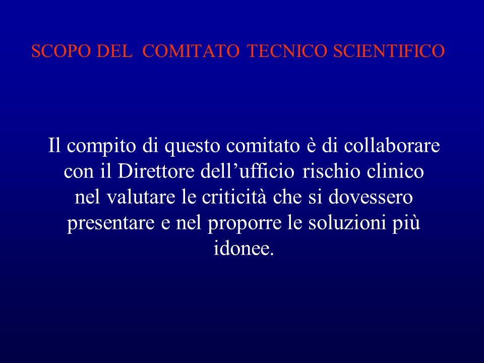 SCOPO DEL COMITATO TECNICO SCIENTIFICO