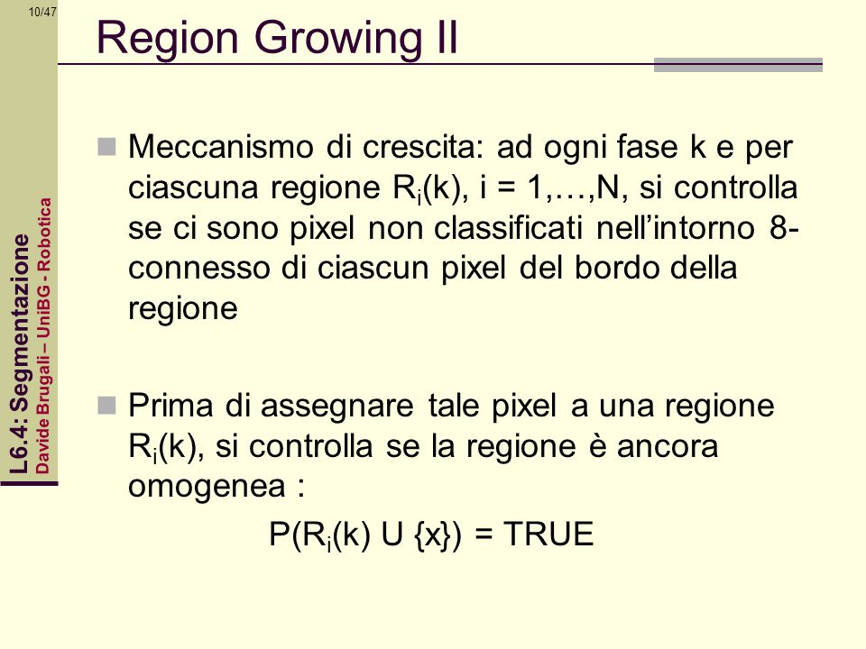 Region Growing II