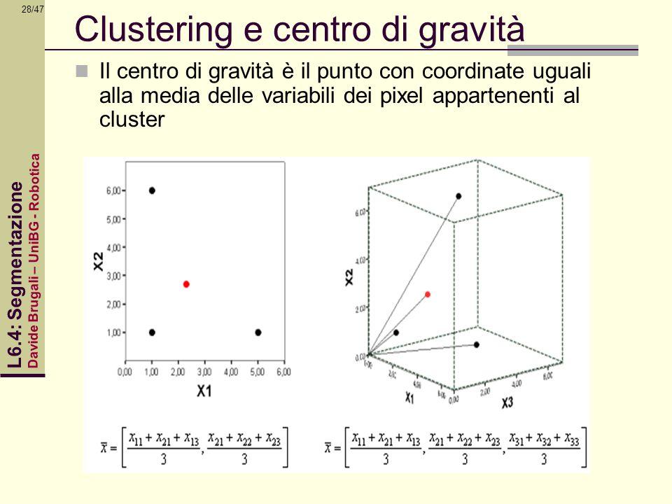 Clustering e centro di gravità