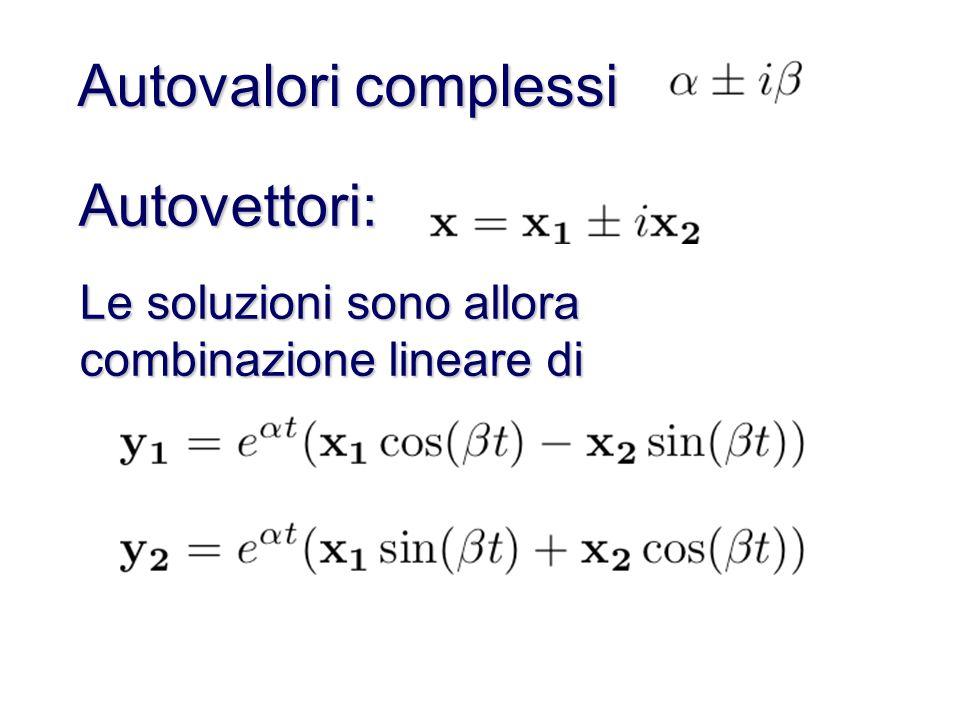 Autovalori complessi Autovettori: