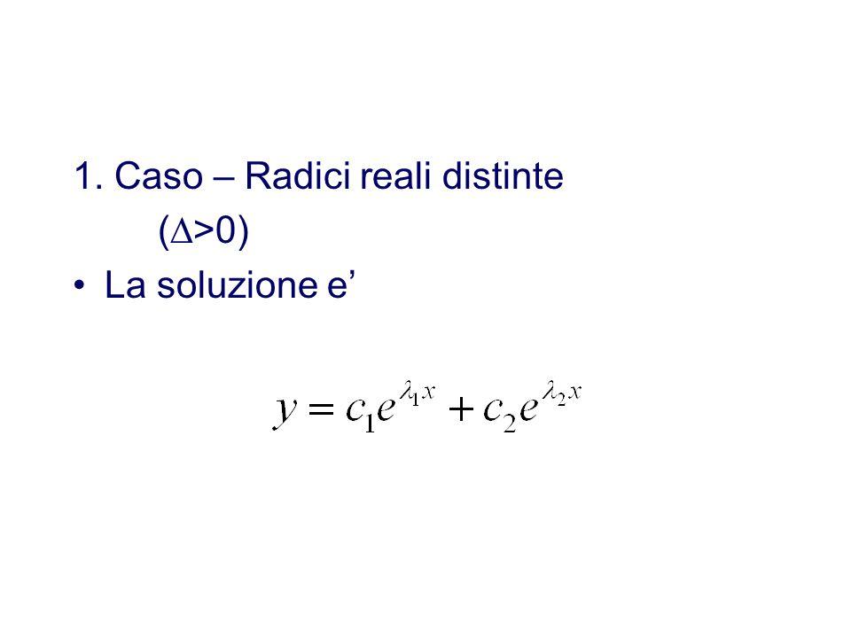 1. Caso – Radici reali distinte