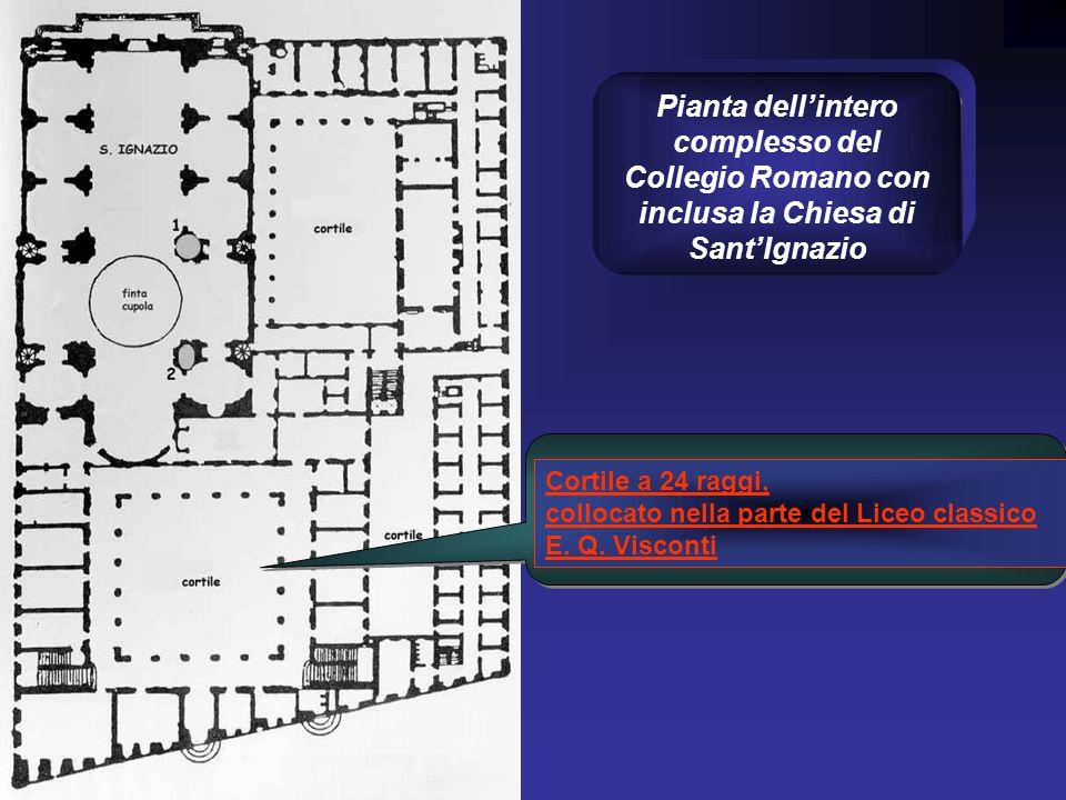 Pianta dell'intero complesso del Collegio Romano con inclusa la Chiesa di Sant'Ignazio