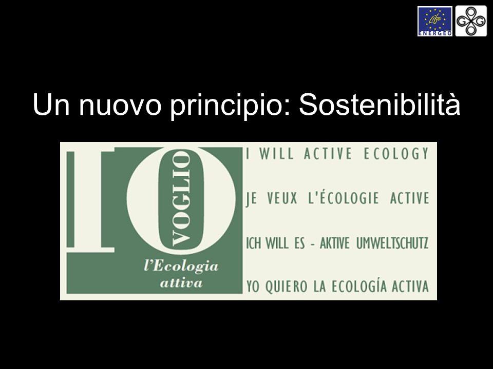 Un nuovo principio: Sostenibilità