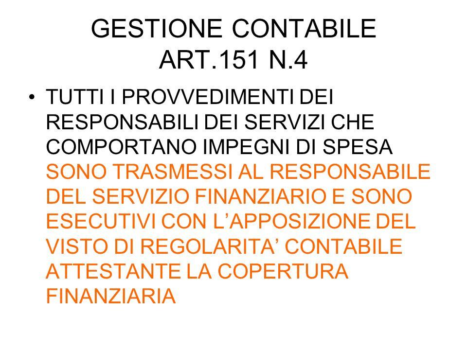 GESTIONE CONTABILE ART.151 N.4
