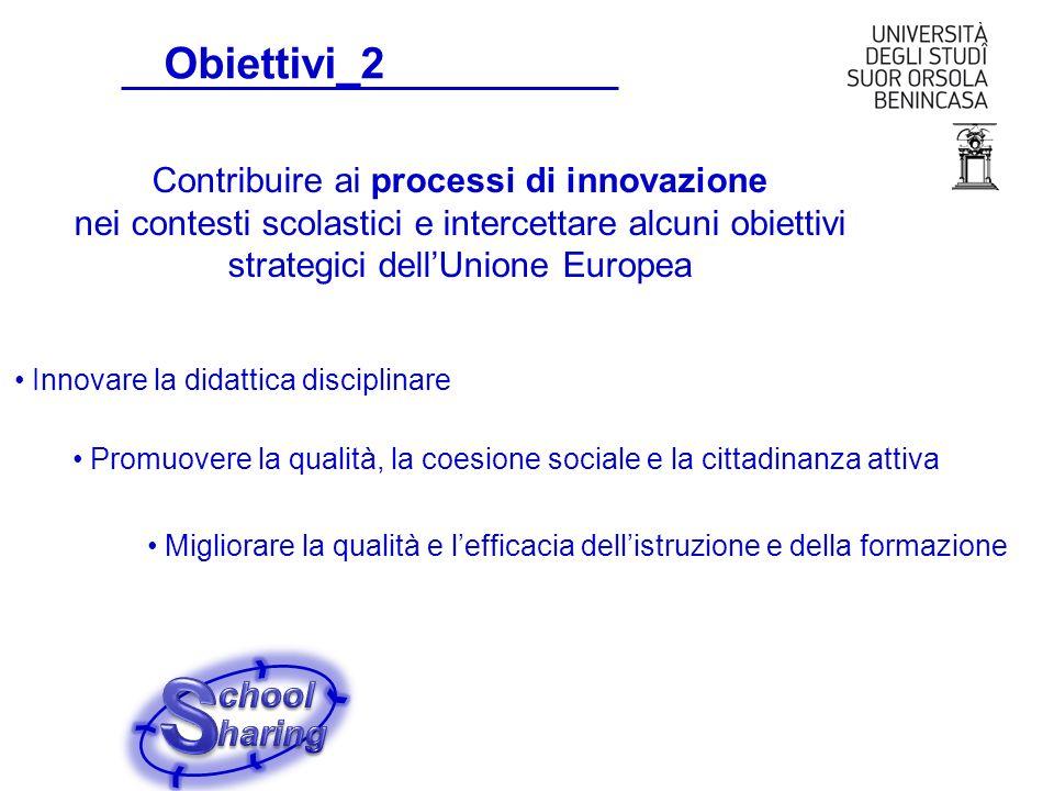 Obiettivi_2 Contribuire ai processi di innovazione nei contesti scolastici e intercettare alcuni obiettivi strategici dell'Unione Europea.