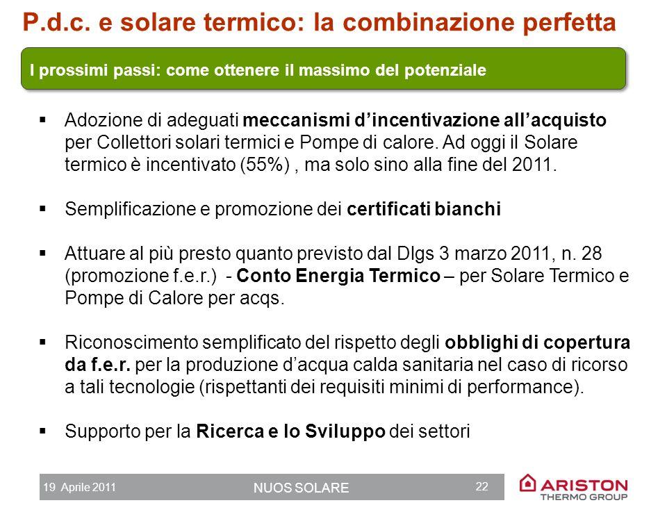 P.d.c. e solare termico: la combinazione perfetta