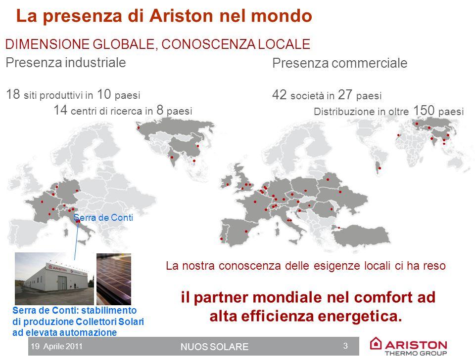il partner mondiale nel comfort ad alta efficienza energetica.