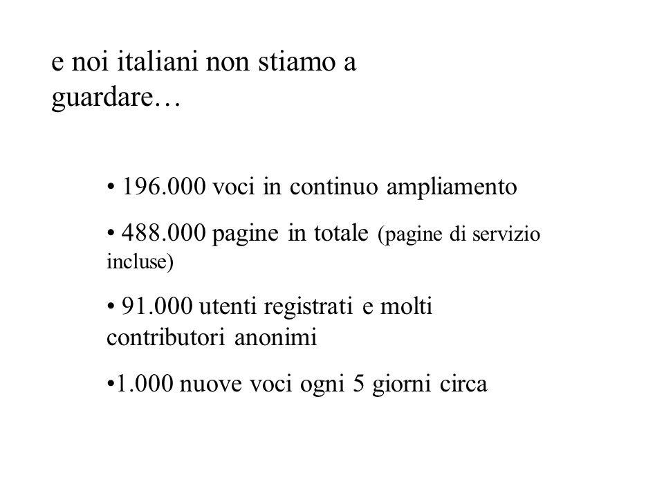 e noi italiani non stiamo a guardare…