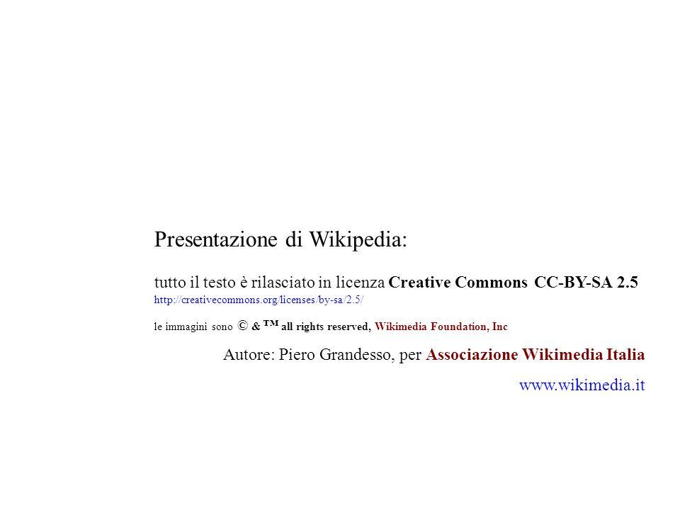 Presentazione di Wikipedia: