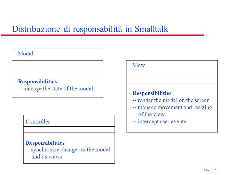 Distribuzione di responsabilità in Smalltalk