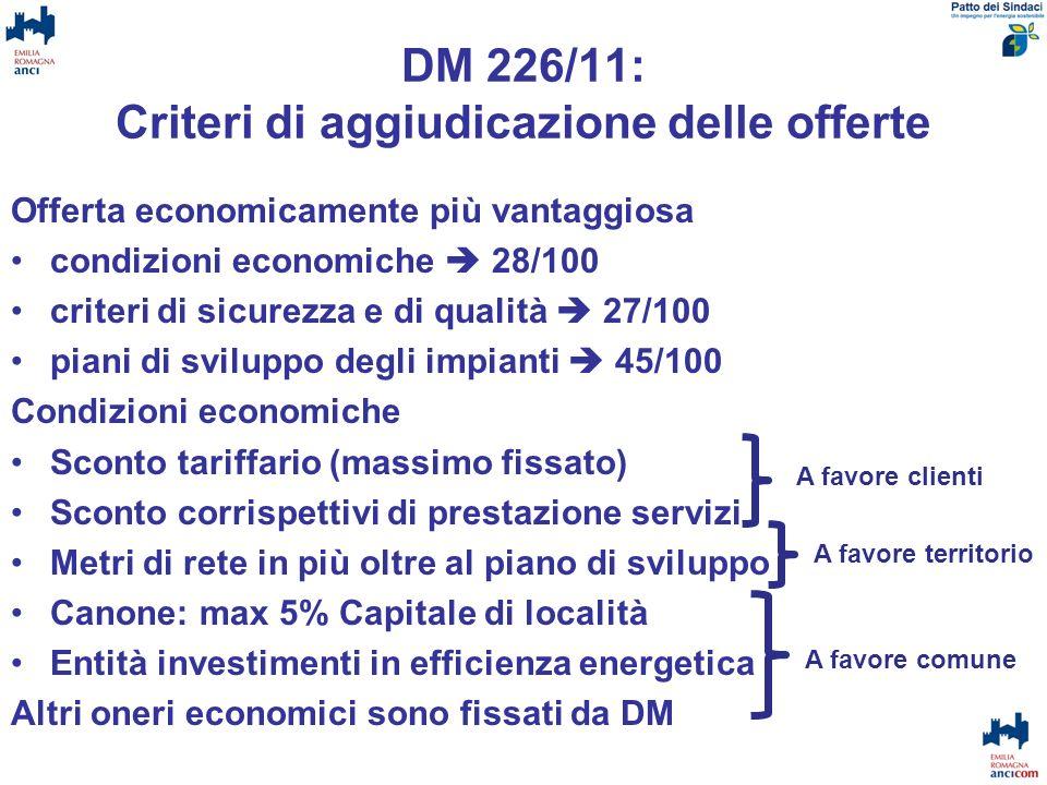 DM 226/11: Criteri di aggiudicazione delle offerte