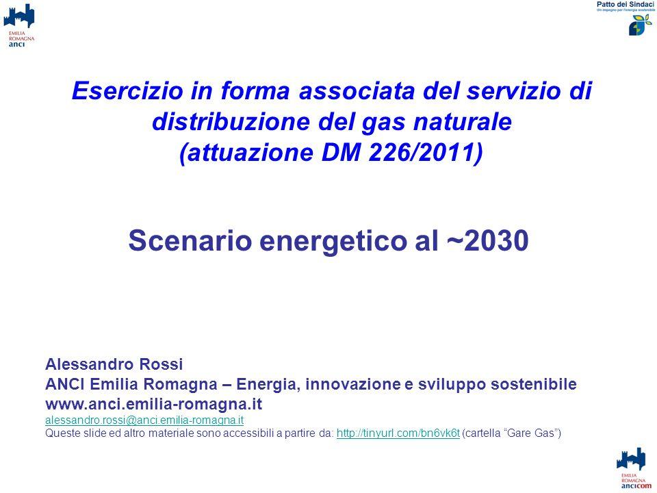 Scenario energetico al ~2030
