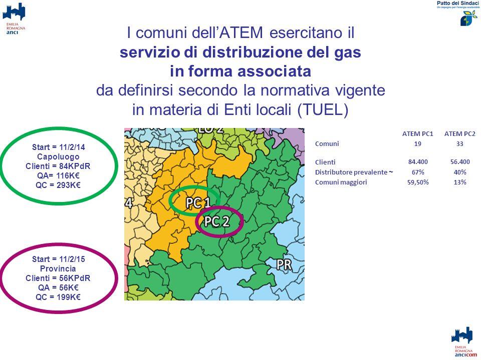 I comuni dell'ATEM esercitano il servizio di distribuzione del gas in forma associata da definirsi secondo la normativa vigente in materia di Enti locali (TUEL)