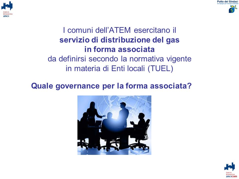 Quale governance per la forma associata