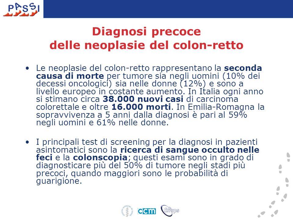 Diagnosi precoce delle neoplasie del colon-retto