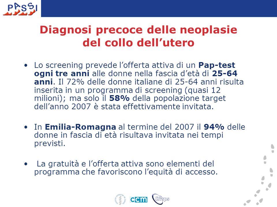 Diagnosi precoce delle neoplasie del collo dell'utero