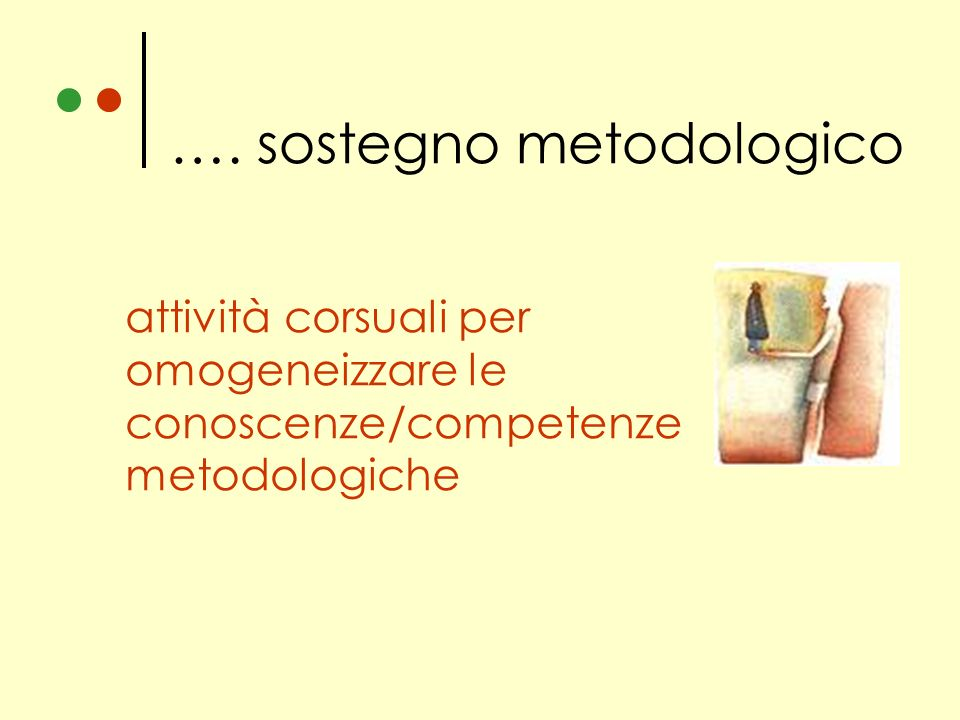 …. sostegno metodologico