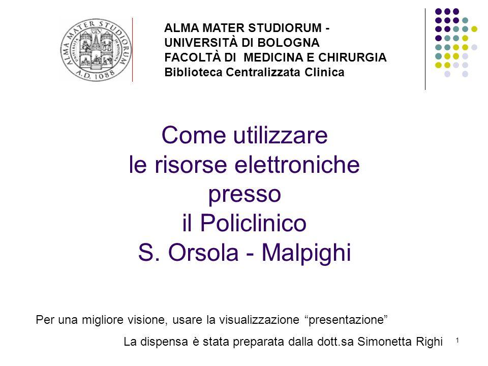 ALMA MATER STUDIORUM - UNIVERSITÀ DI BOLOGNA