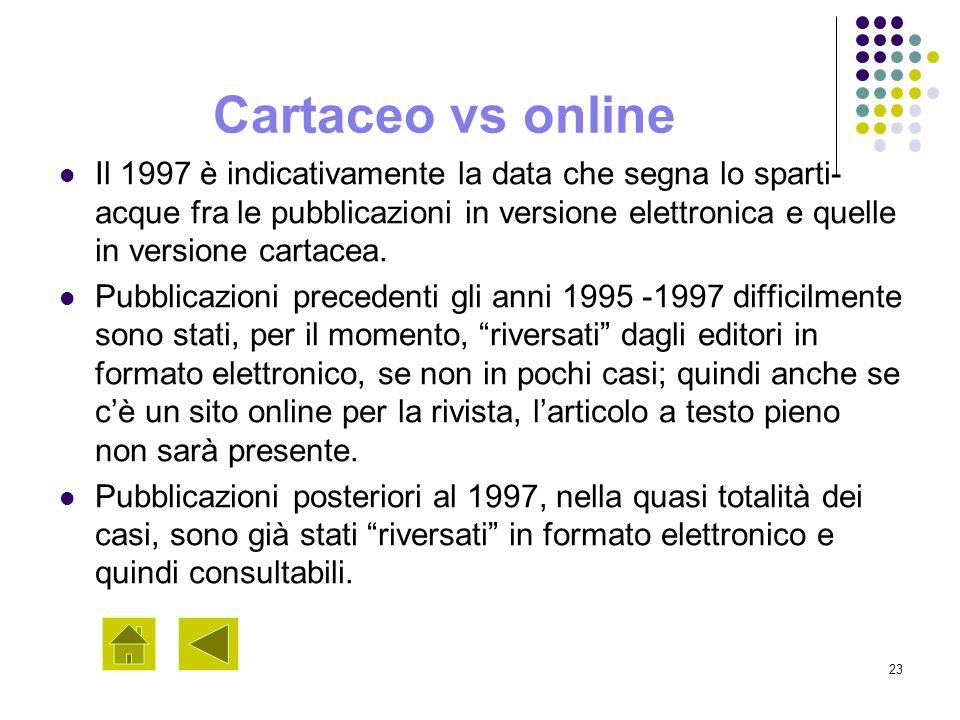 Cartaceo vs online