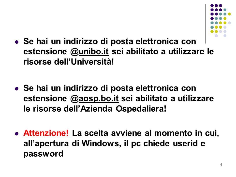 Se hai un indirizzo di posta elettronica con estensione @unibo