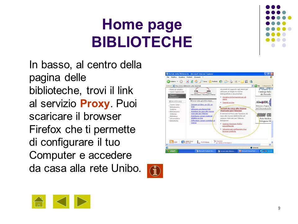 Home page BIBLIOTECHE