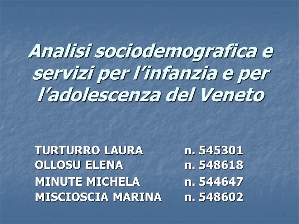 Analisi sociodemografica e servizi per l'infanzia e per l'adolescenza del Veneto