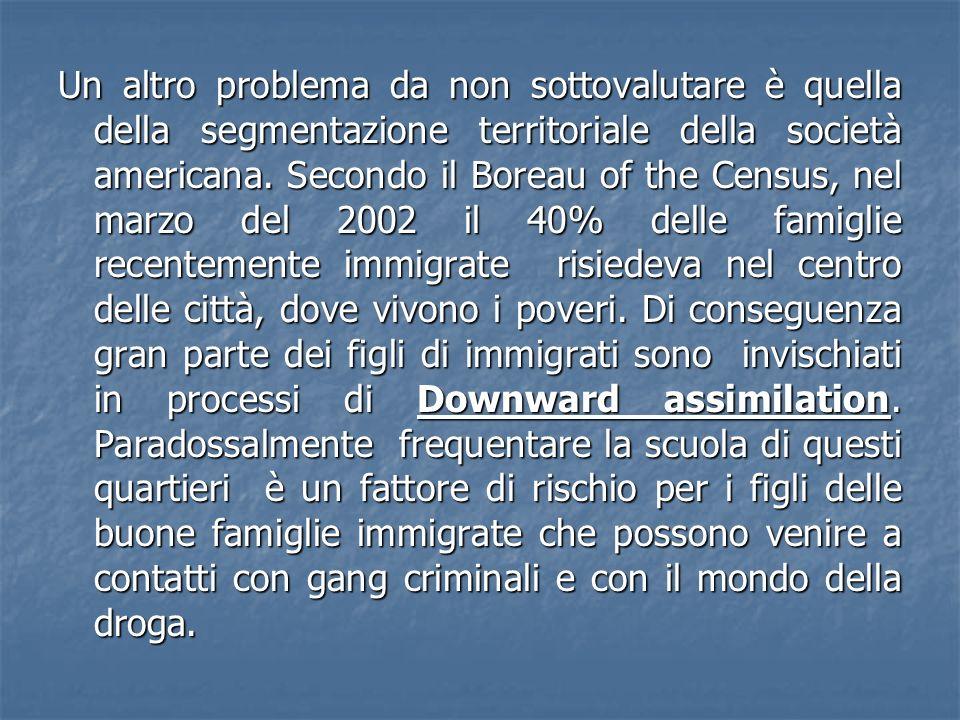 Un altro problema da non sottovalutare è quella della segmentazione territoriale della società americana.