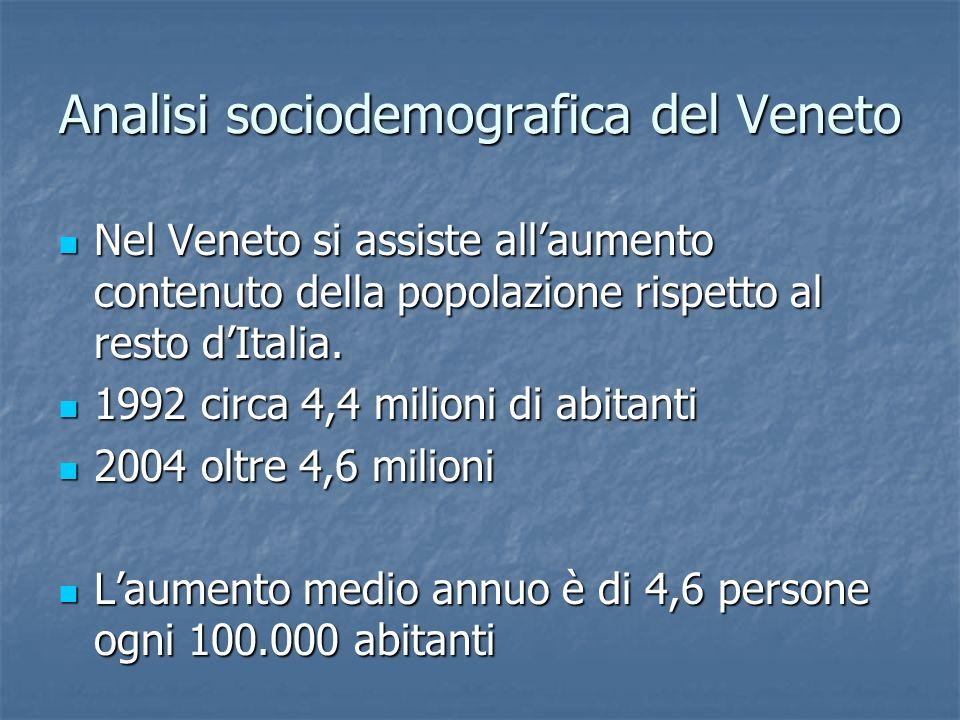 Analisi sociodemografica del Veneto