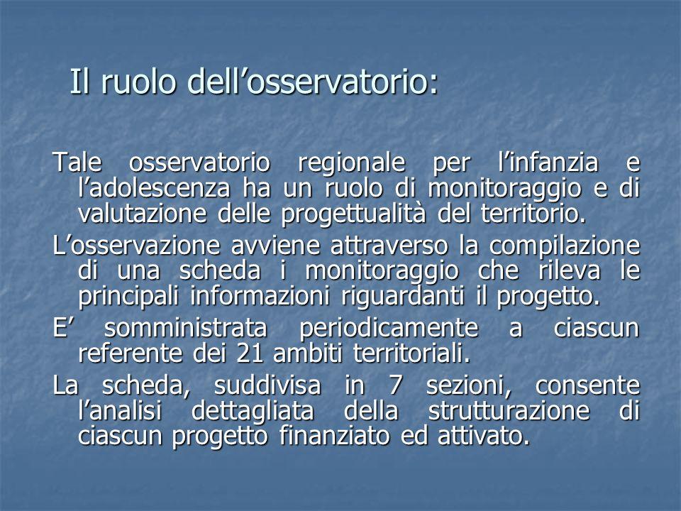 Il ruolo dell'osservatorio: