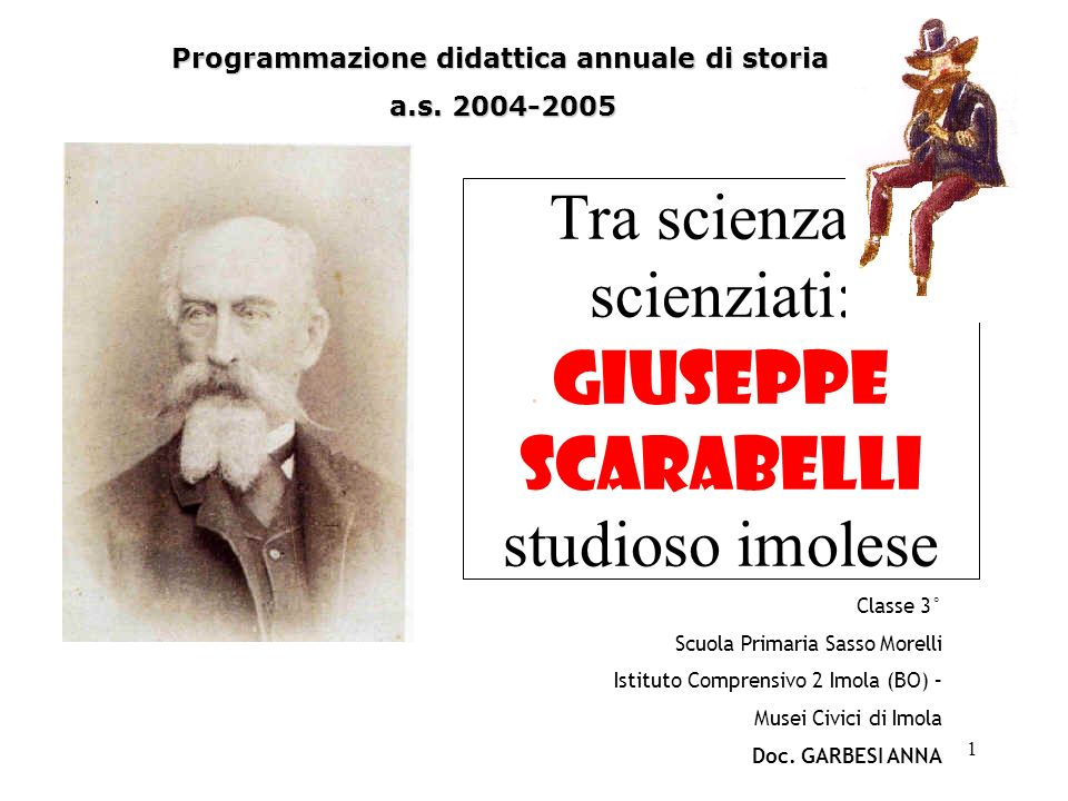 Tra scienza e scienziati: Giuseppe Scarabelli studioso imolese