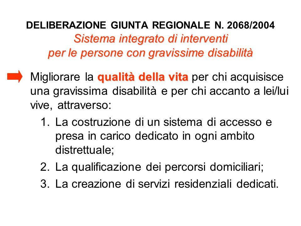 La qualificazione dei percorsi domiciliari;