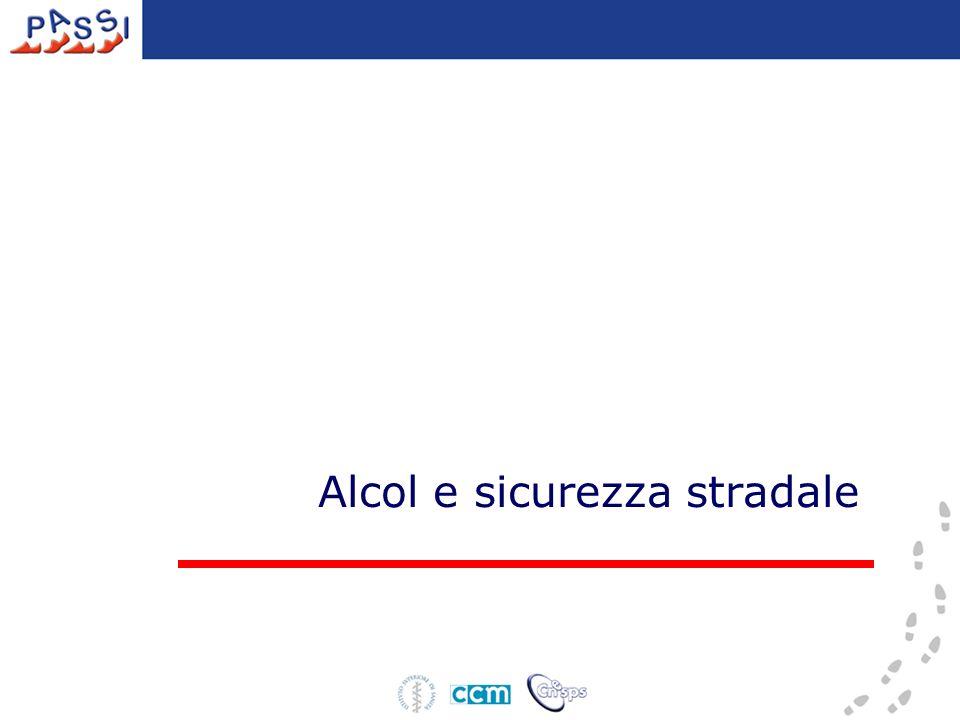 Alcol e sicurezza stradale