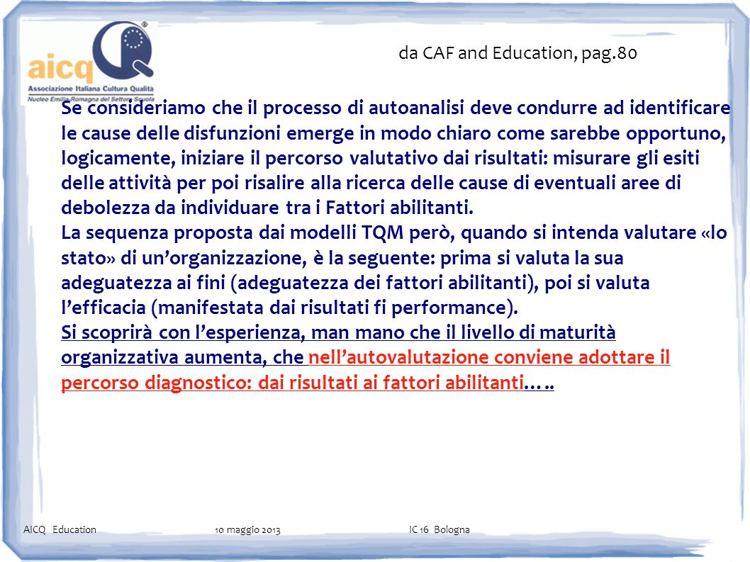 da CAF and Education, pag.80