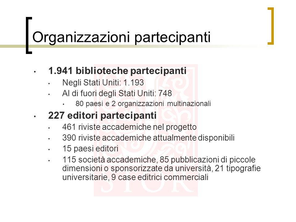 Organizzazioni partecipanti