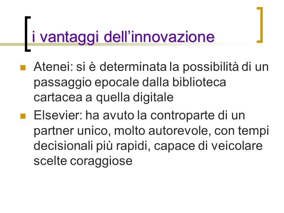 i vantaggi dell'innovazione