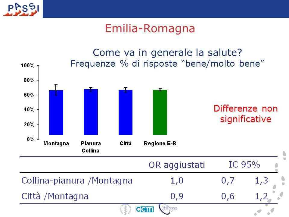 Emilia-Romagna Come va in generale la salute