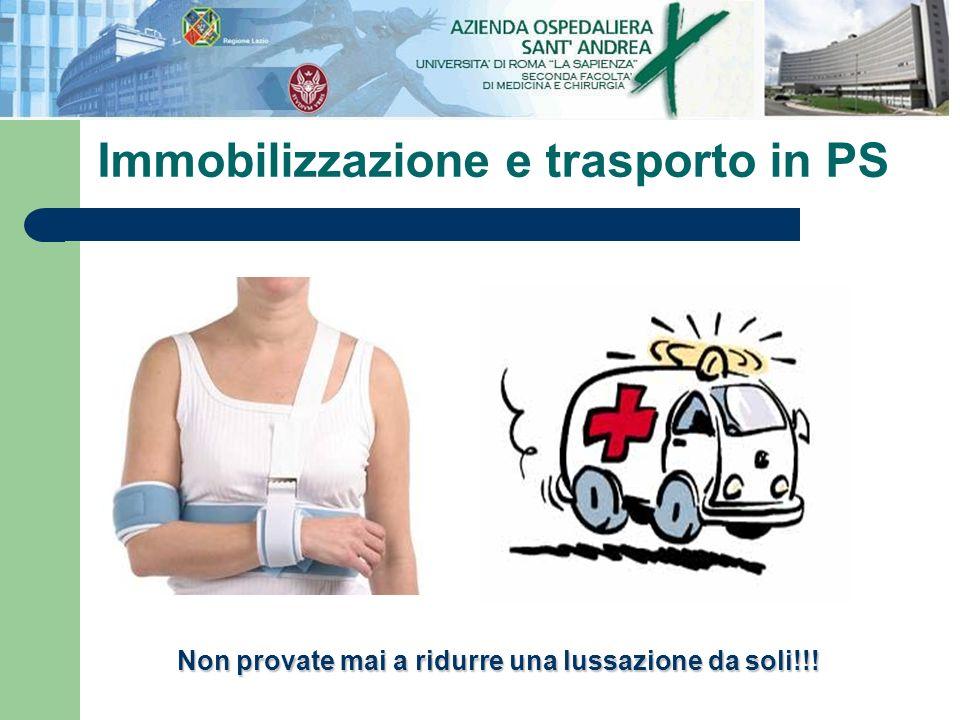 Immobilizzazione e trasporto in PS