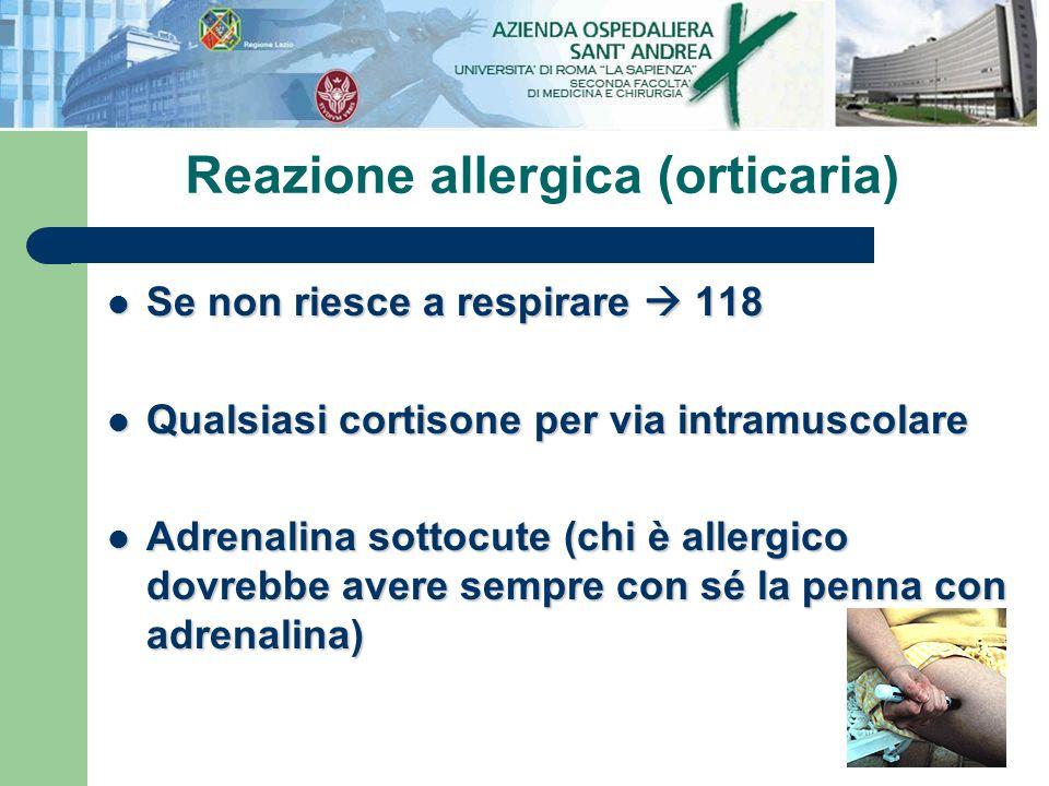 Reazione allergica (orticaria)