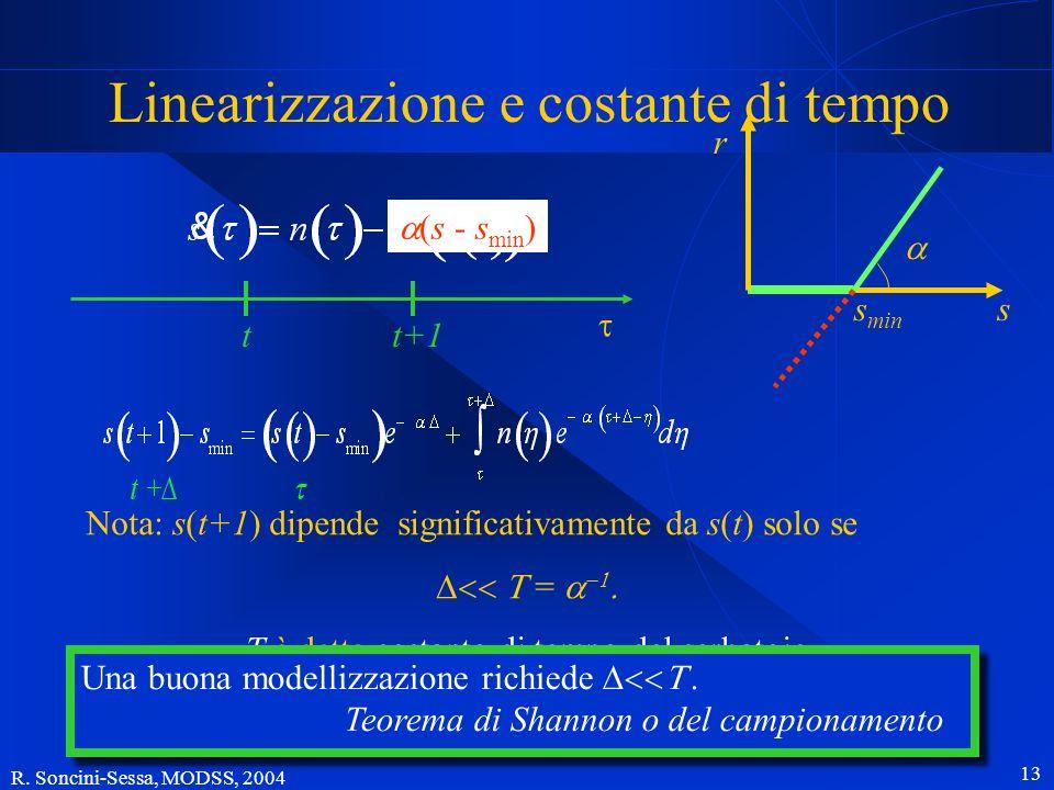 Linearizzazione e costante di tempo