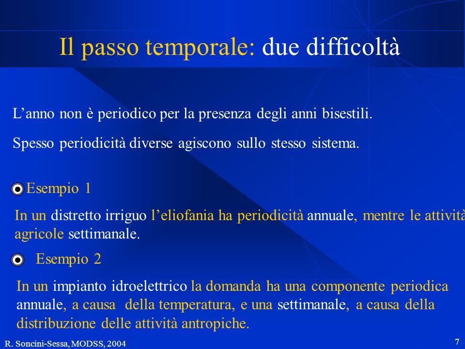 Il passo temporale: due difficoltà