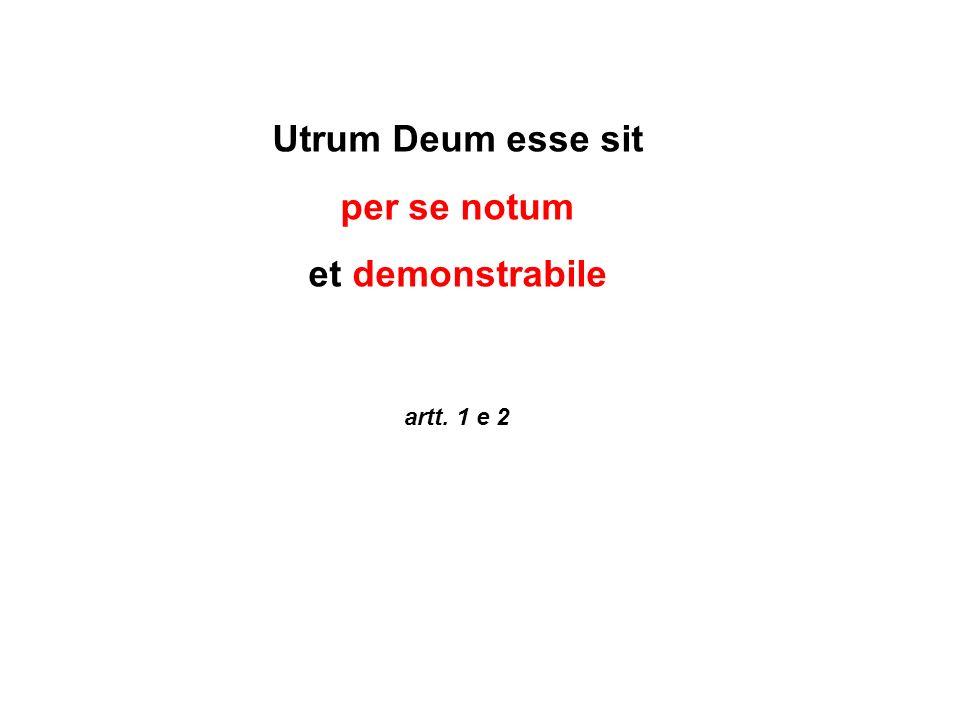 Utrum Deum esse sit per se notum et demonstrabile