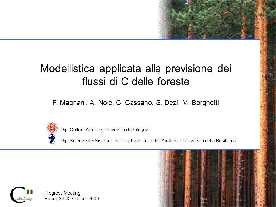 Modellistica applicata alla previsione dei flussi di C delle foreste