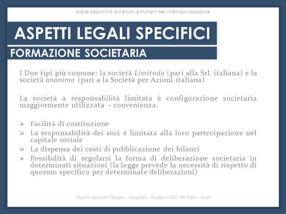 ASPETTI LEGALI SPECIFICI