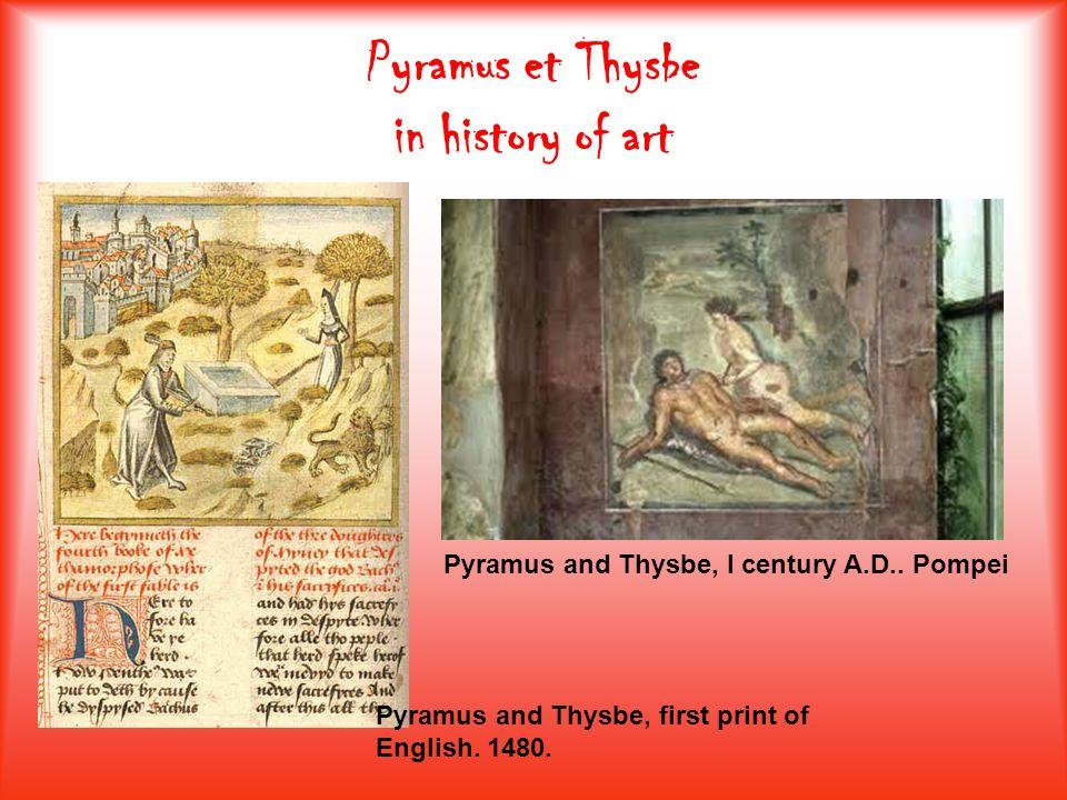 Pyramus et Thysbe in history of art