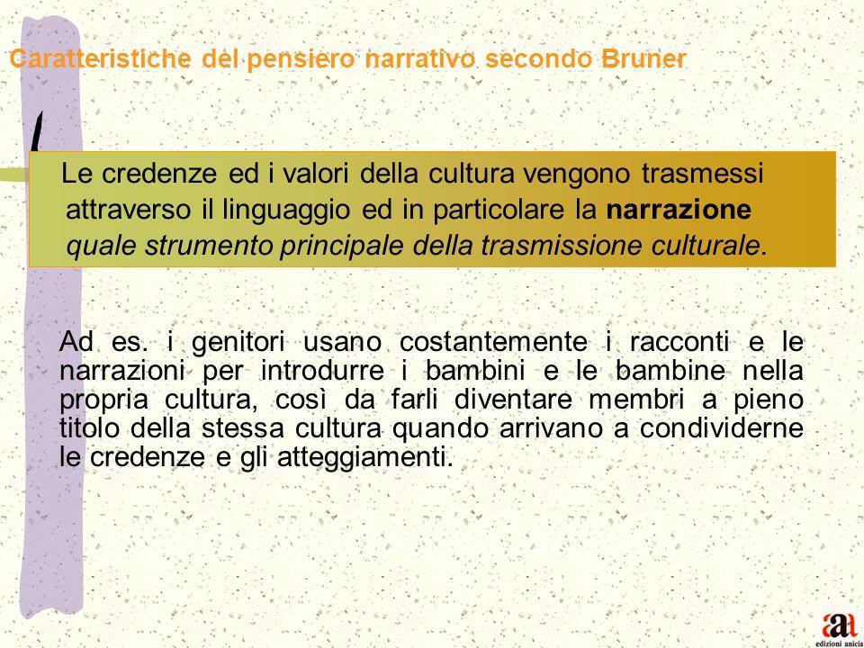 Caratteristiche del pensiero narrativo secondo Bruner