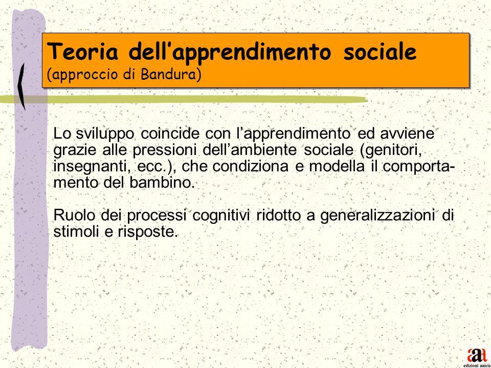 Teoria dell'apprendimento sociale (approccio di Bandura)