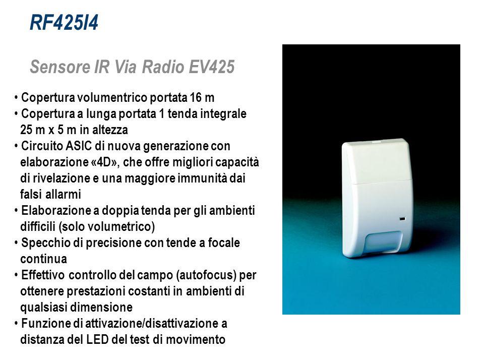 RF425I4 Sensore IR Via Radio EV425 Copertura volumentrico portata 16 m